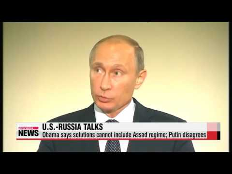 Obama, Putin clash over differences on Syria′s future   오바마-푸틴, 정반대 시리아 해결책 제시