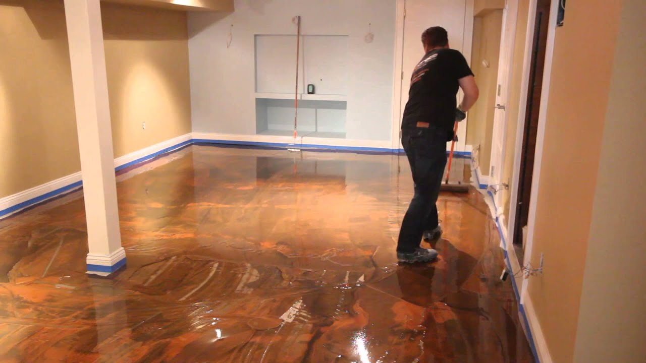 Designer epoxy youtube for Epoxy boden 3d