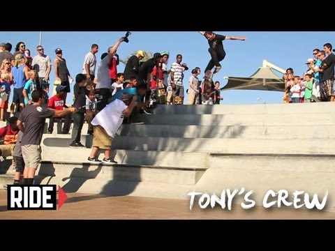 Birdhouse Left Coast Tour Extras with Tony, Riley, Jaws, Cab & More! - Tony's Crew
