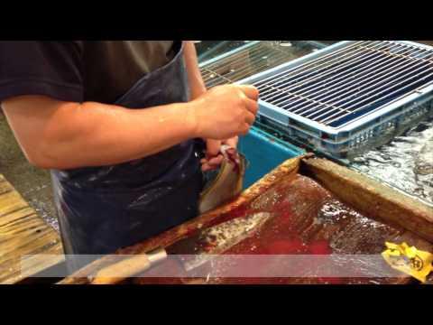 Ike-Jime, The Fish Killing Man at Tsukiji Market