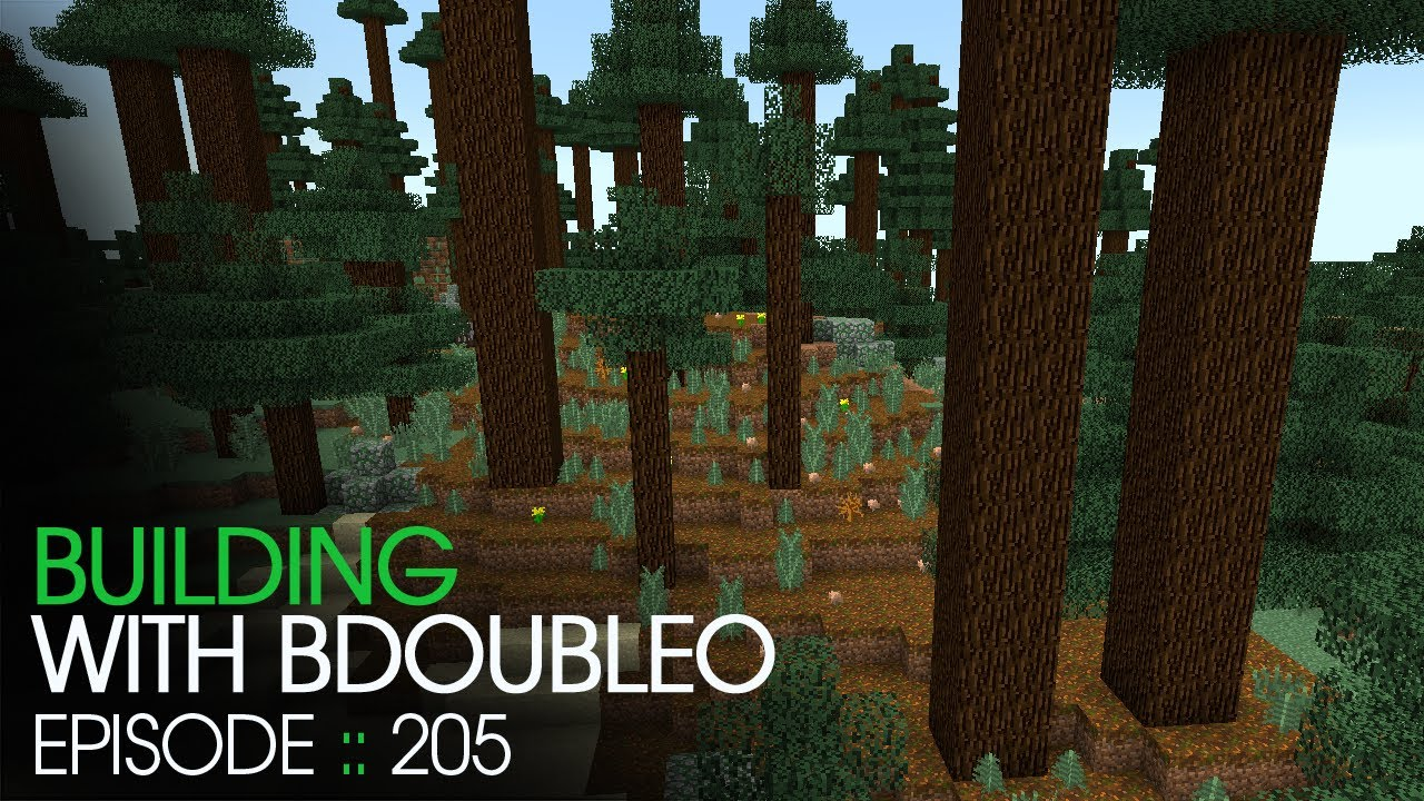 Minecraft Building With BdoubleO Episode 205 Mega Taiga YouTube