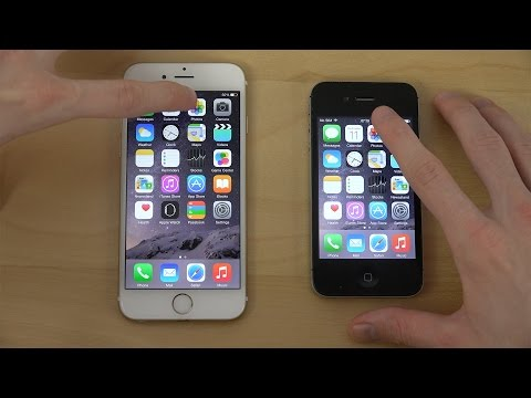 Official iOS 8.2: iPhone 6 vs. iPhone 4S - App Opening Speed Test (4K)