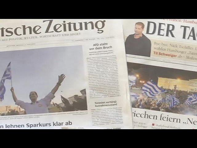 La presse allemande prédit des jours difficiles à la Grèce