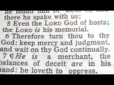 Part 456 Reese Chrono Bible (Israel) Hosea 12