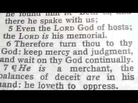 Part 456 Reese Chrono Bible (Israel) Hosea 12