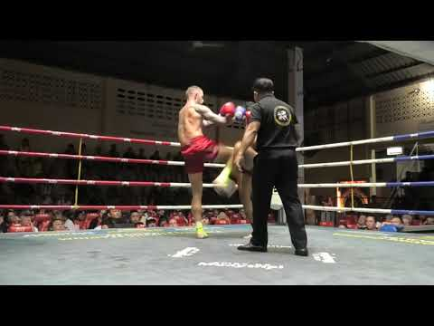Lee (Sinbi Muay Thai) From England Fights At Patong Boxing Stadium