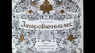Джоанна Бэсфорд. Зачарованный лес. Раскраска - антистресс! \ Enchanted Forest