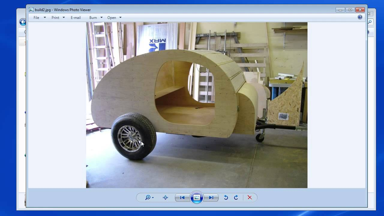 Teardrop trailer plans part 5 youtube for Small trailer plans free