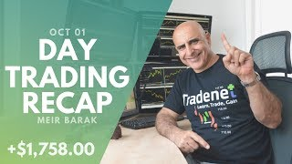Day Trading Recap, Oct 01: How I Protect My Day Trading Profits!