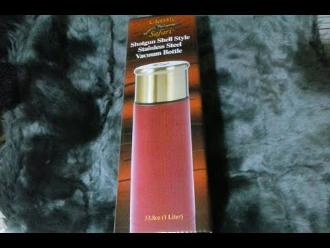Classic Safari™ Shotgun Shell Style Vacuum Bottle Video Review