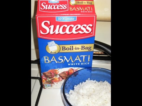 product review 10 MINUTE SUCCESS boil-in-bag BASMATI WHITE RICE non GMO - PAKISTAN Riviana Foods
