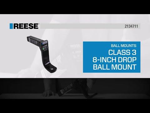 "REESE® Class III Trailer Hitch 8"" Drop Ball Mount - 2134711"