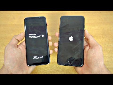 Samsung Galaxy S8 Vs IPhone 7 Plus - Speed Test! (4K)