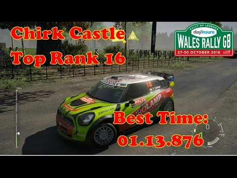 World Rally Championship 6 🏁 Personal record Top Rank 16 | best time: 01.13.876| Wales Chirk Castle
