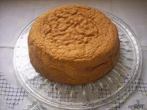 RECETA BIZCOCHO CASERO BASICO PARA TORTAS (Basic cake for cake)