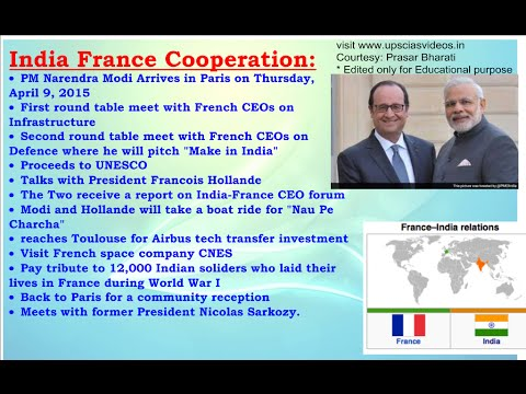 Current affairs   India France Cooperation   11th April 2015