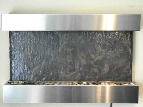 Bluworld WWMHS Medium Horizon Falls Indoor Slate Water Fountain ...