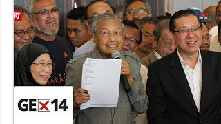 Dr M expects to be sworn in as PM by 5pm today