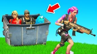Winning By Hiding in a DUMPSTER in Fortnite Chapter 2