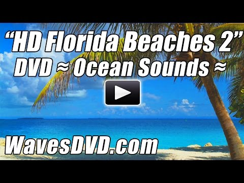 HD FLORIDA BEACHES 2 - WAVES DVD Video Relaxing Wave Sounds Best Beach Ocean Relaxation Blu-Rey