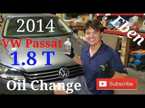 2014 Volkswagen Passat 1.8 Turbo Motor Oil Change