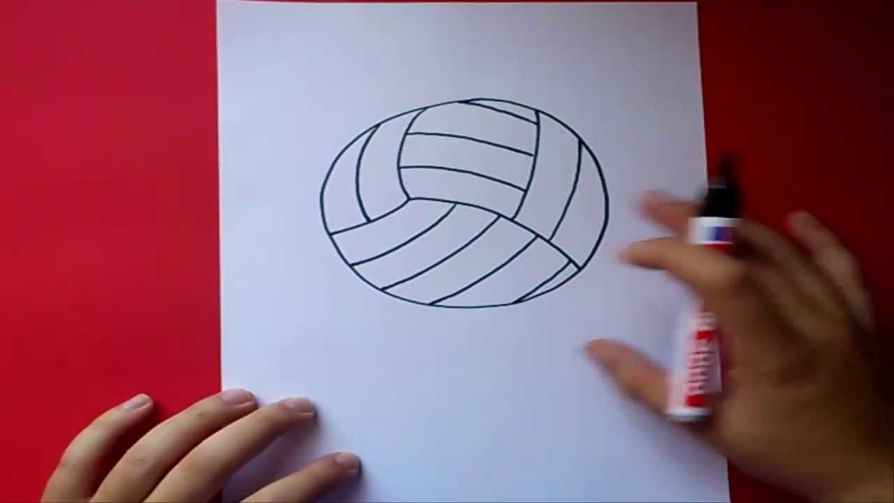 Como Dibujar Un Balon De Volleyball Paso A Paso