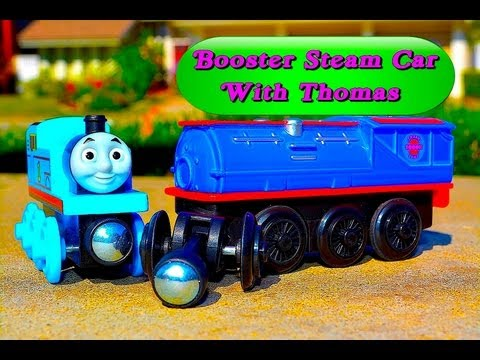 Thomas The Tank Engine & Friends Booster Steam Car - Wooden Railway Fisher Price Toy Train Review