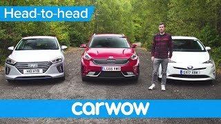 Toyota Prius vs Hyundai Ioniq vs Kia Niro 2018 review – what's the best hybrid? | Head2Head