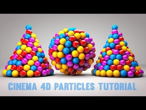Cinema 4D R18 Tutorial - C4D Particle Emitters Tutorial | C4D Tutorial