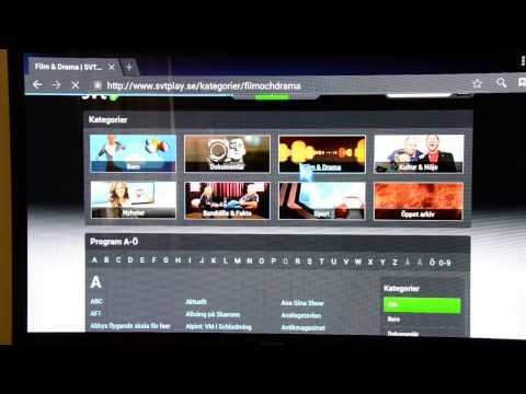 Smart TV Box HiMedia Q5 SVTPlay online video streaming