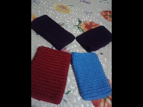 Cómo tejer con gancho (crochet) una funda para celular.