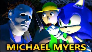 MICHAEL MYERS HALLOWEEN VS SONIC & BALDI FIELD TRIP CHALLENGE! (official) Minecraft Horror Animation