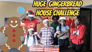 HUGE GINGERBREAD HOUSE CHALLENGE