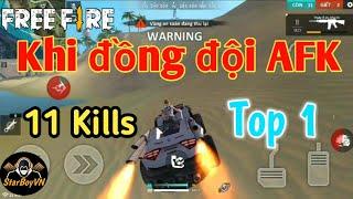 [Garena Free Fire] Đua Tử Thần gặp Đồng Đội AFK phải Làm Gì để TOP 1? | StarBoyVN