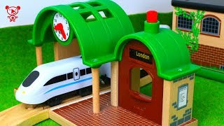 Wooden trains for kids like brio, Thomas,  toy fire truck