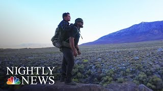 Veterans With Incredible Bond Hike Together — One Carrying The Other On His Back | NBC Nightly News