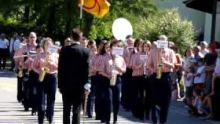 Marschmusik Der Stadtmusik Rheinfelden Am Aargauischen Musiktag 2009 In Sulz