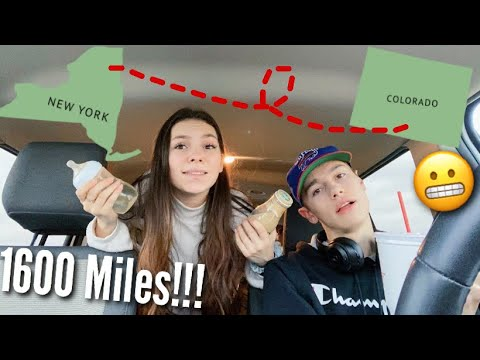 28 Hour Road trip w/ TWO babies l Teen Mom Travel Vlog