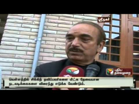 Responses to Puthiyathalaimurai's query about the Jammu Kashmir  flood rescue