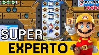 Comienzo con un Nivel PODEROSO 👊 !! - SUPER EXPERTO NO SKIP | Super Mario Maker en Español - ZetaSSJ
