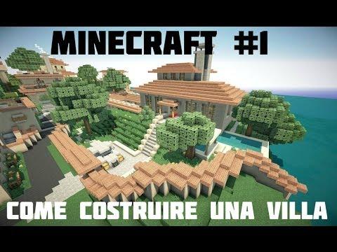 Tutorial Minecraft #1 Come costruire una villa spettacolare Primo Piano e Piscina...