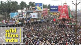 Hindu devotees pull 'Rath', or chariot of Lord Jagannath