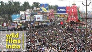 Hindu devotees pull 'Rath', or chariot of Lord Jagannath