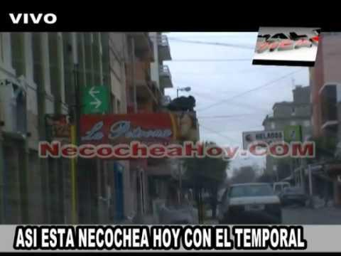 ASI ESTA NECOCHEA HOY CON EL TEMPORAL