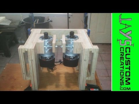 Homemade Dual Router Lifts - 085