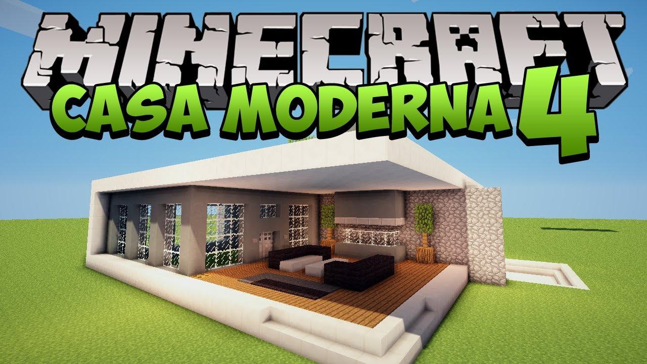 Minecraft construindo uma casa moderna 4 youtube for Casa moderna minecraft 0 10 4