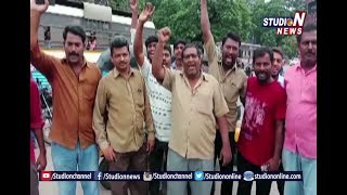 Auto Drivers Protest Over Diesel Hikes In Khammam