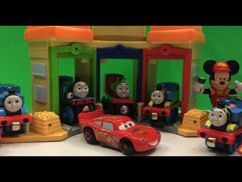 Disney Lightning McQueen & Thomas and Friends gather at the Chuggington train station