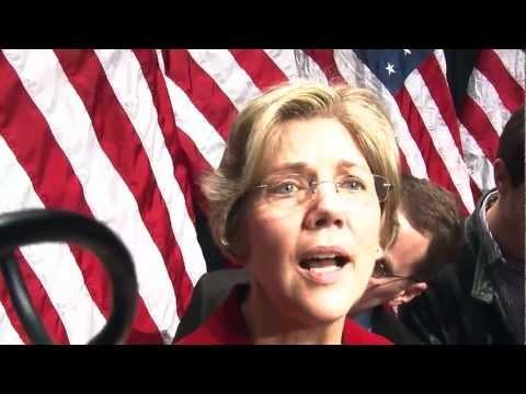 Elizabeth Warren ceremonial swearing in as US Senator at Roxbury Community College