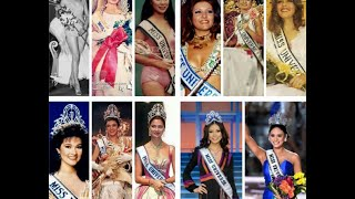 Miss Universe Winners from ASIA